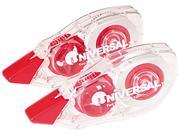 Universal 75602 Correction Tape  Non-Refillable  1/6   x 394    Two per Pack
