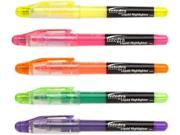 Integra ITA30000 Liquid Ink Highlighter- Chisel Tip- 5-ST- Assorted