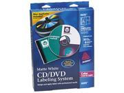 Avery 6695 CD/DVD Design Kit  30 Labels & 8 Inserts for Color Laser Printers