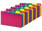 Oxford 73153 Card Guides, Alpha, 1/5 Tab, Polypropylene, 3 x 5, 25/Set, 1 Set