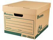 Universal 28224 Recycled Record Storage Boxes  Letter  12   x 15   x 10    Kraft  12/CT
