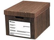 Universal 65521 Storage Files  Ltr/Lgl  Fiberboard  12-1/ 2 x15-2/5 x 10-1/2  Woodgrain  12/Ctn