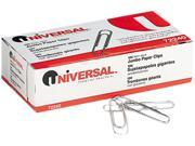 Universal 72240 Nonskid Paper Clips  Wire  Jumbo  Silver  100/Box  10 Boxes Pack