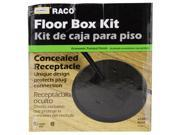 Hubbell Raco 6239BK Black Concealed Receptacle Floor Box Kit