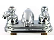 """Danze D301055 4"""" Centerset Sheridan Double Handle Centerset Low Lead Lavatory Faucet Chrome"""