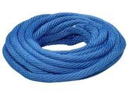 The Lehigh Group BSBP235W 1 2 X 35 Blue Polypropylene Solid Braid Multifilament Derby Rope