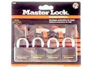 "Master Lock 131Q 4 Count 1-3/16"" Brass Weatherproof Padlock"