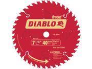 """FREUD                                    7-1/4"""" 40T Diablo™ Finish Work Circular Saw Blade"""