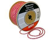 The Lehigh Group RWSBP850W 3 8 X 50 Red White Polypropylene Solid Braid Multifilament Derby Rope