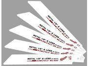 "Milwaukee 48-00-5186 5 Pack 6"" 24 TPI Sawzall® Metal Cutting Reciprocating Saw Blades"