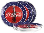 COCA-COLA Americana 10.5 inch Dinner Plate Set in Blue, Set of 12