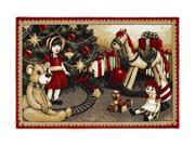 "Shaw Living Holiday Collection Christmas Toys Area Rug Multi 2' 7"" X 3' 10"" 3P17300121XM"