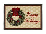 """Shaw Living Holiday Collection Holiday Wreath Area Rug Multi 2' 7"""" X 3' 10"""" 3P17300122XM"""