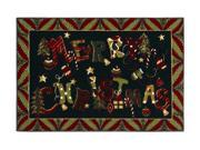"""Shaw Living Holiday Collection Merry Jumble Area Rug Multi 2' 7"""" X 3' 10"""" 3P17300116XM"""