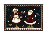 """Shaw Living Holiday Collection Mr. And Mrs. Area Rug Multi 2' 7"""" X 3' 10"""" 3P17300112XM"""