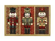 """Shaw Living Holiday Collection Nutcrackers Area Rug Multi 2' 7"""" X 3' 10"""" 3P17300106XM"""