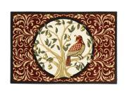 """Shaw Living Holiday Collection Partridge In a Pear Tree Area Rug Multi 2' 7"""" X 3' 10"""" 3P17300103XM"""
