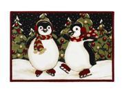 """Shaw Living Holiday Collection Penguins Area Rug Multi 2' 7"""" X 3' 10"""" 3P17300120XM"""