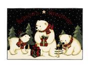 "Shaw Living Holiday Collection Polar Bears Area Rug Multi 2' 7"" X 3' 10"" 3P17300104XM"