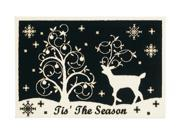 """Shaw Living Holiday Collection Winter Night Area Rug Multi 2' 7"""" X 3' 10"""" 3P17300113XM"""