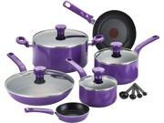 T-Fal  Excite C970SE64 14-Piece Cookware Set, Purple