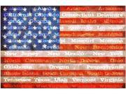 Trademark Fine Art Michelle Calkins 'American Flag with States' Canvas Art