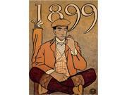 Trademark Fine Art  Edward Penfield 'Golf Calendar 1899' Canvas Art
