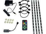 HitLights Eclipse Pre-Cut Multicolor RGB Home Accent Solution LED Light Strip Kit