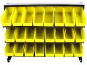 Trademark 75-24BIN 24 Bin Parts Storage Rack Trays