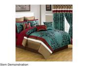 Lavish Home 24 Piece Room In A Bag Eve Bedroom Set Queen