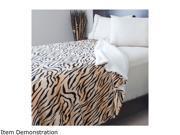 Lavish Home Fleece Blanket with Sherpa Backing Full Queen