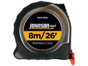 Johnson Level 1840-0026 8m/26' Metric/Inch Big J Magnetic Power Tape