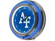 Image of ADG Air Force Falcons Chrome Double Ring Neon Clock