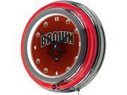 Image of ADG Brown University Neon Clock - 14 inch Diameter