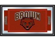 Image of ADG Brown University Logo and Mascot Framed Mirror