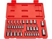 TEKTON  1354  35-pc. Star Drive Bit Socket Set (1/4, 3/8, 1/2 in. Drive)