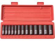 TEKTON  47926  3/8 in. Drive Deep Impact Socket Set (7-19mm) 12 pt. Cr-V