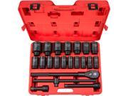 TEKTON  48995  22-pc. 3/4 in. Drive Deep Impact Socket Set