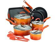 Rachael Ray Nonstick 14-Piece Cookware Set in Orange