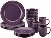 Rachael Ray Cucina Dinnerware 16-Piece Stoneware Dinnerware Set in Lavender Purple