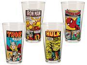 Vandor  Marvel Comics 16oz Glasses Set of 4