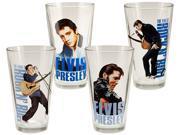 Vandor  Elvis Presley 4 pc. 16 oz. Glass Set