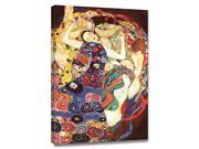 Virgins by Gustav Klimt is a Stretched Canvas Print<br><br>Gustav Klimt (1862 – 1918) was a brilliant Austrian iconoclast who rose from childhood impoverishment to become an artist who enormously impa