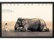 Boy Reading to Elephant, Mexico City is a Framed Art Print set with a SOHO Thin wood frame.<br><br>High-quality printing gives this fine art print its vivid and sharp appearance. Produced on medium we