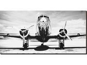 Passenger Airplane on Runway by Philip Gendreau is a Stretched Canvas Print<br><br>This stretched canvas print is the result of sophisticated digital printing technology in which the image is printed