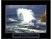 Integrity: Wave is a Framed Art Print set with a Ronda II Black wood frame.<br><br>High-quality printing gives this fine art print its vivid and sharp appearance. Produced on medium weight cover stock
