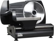 MaxiMatic EMT-503B Elite Gourmet 130-Watt Die-Cast-Aluminum Electric Food Slicer, Black