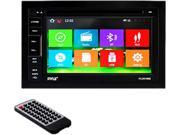 PYLE PLDNV66B 6.5 Double DIN In Dash LCD Touchscreen Navigation DVD Receiver with Bluetooth R GPS