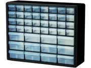 """Stackable Cabinets,44 Drawers,20""""x6-3/8""""x15-13/16"""",Gray"""