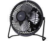 Alera FAN041 4 in. Mini Personal Steel Cooling Fan, Black & Silver